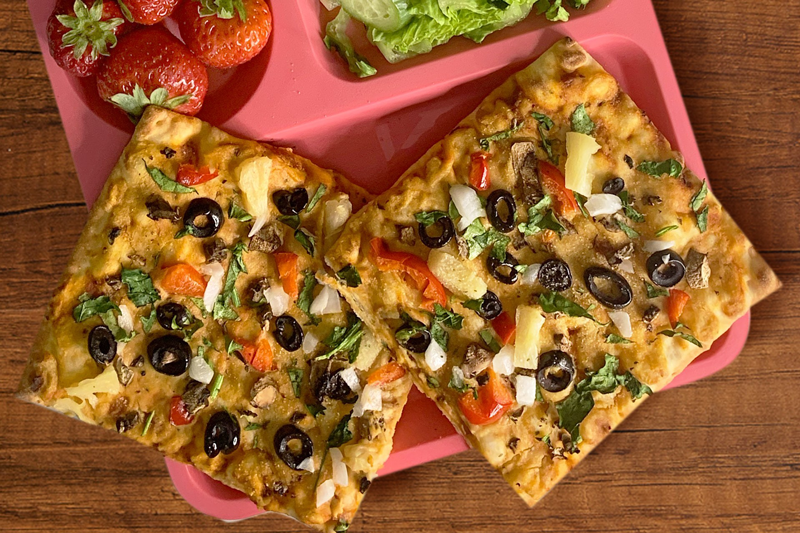 Sabra is partnering with Tabitha Brown for its 'Snack to School' video series, featuring recipes such as Hummus Flatbread Pizza
