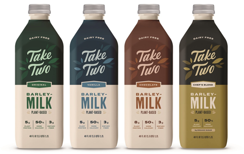 Take Two Foods is adding a new contendor to the plant-based mix, recently debuting one of the world's first Barleymilks