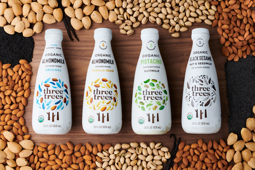 Three Trees has introduced two new products: Pistachio Nutmilk and Black Sesame Nut and Seedmilk