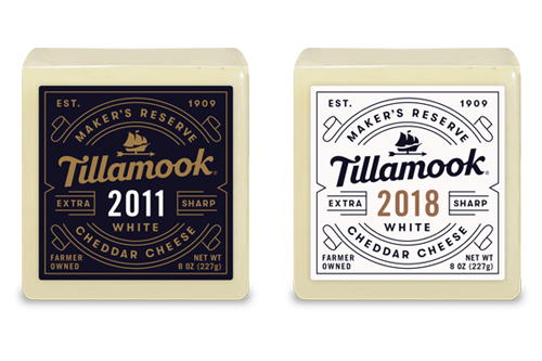 Tillamook® recently added its Maker's Reserve 2011 and 2018 vintage Cheddars to its Maker's Reserve Program