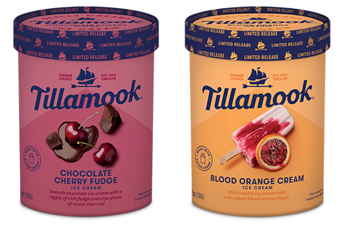 Tillamook's exclusive seasonal flavors, Blood Orange Cream and Chocolate Cherry Fudge, are only available this summer