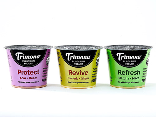 Trimona Foods recently launched its new Superfood yogurt line in varieties of Protect, Refresh, and Revive