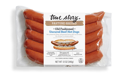 True Story Foods' Old Fashioned Uncured Beef Hot Dogs