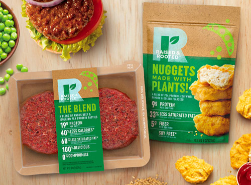 Tyson announced its first plant-based and blended products, along with a new Raised & Rooted® brand