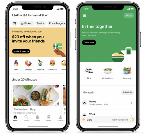 Uber is expanding its food delivery service to launch grocery delivery in three major markets in select U.S., Latin American, and Canadian cities