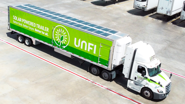 United Natural Foods, Inc. (UNFI) recently added 53 all-electric transport refrigerated trailer units (TRU) to its fleet located at a Riverside, California, distribution center