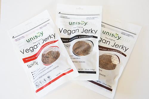 Unisoy's Vegan Jerky Packaging