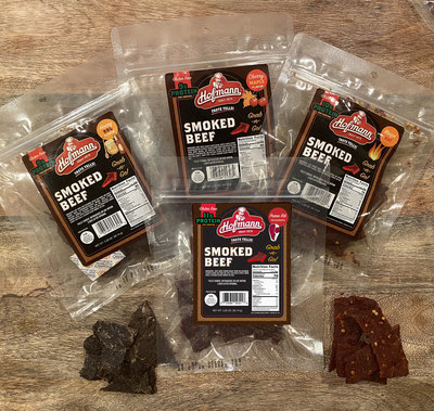 Hofmann Sausage company has introduced three new flavors of smoked beef jerky and two flavors of summer sausage to its product line in addition to launching its Chicken Sausage