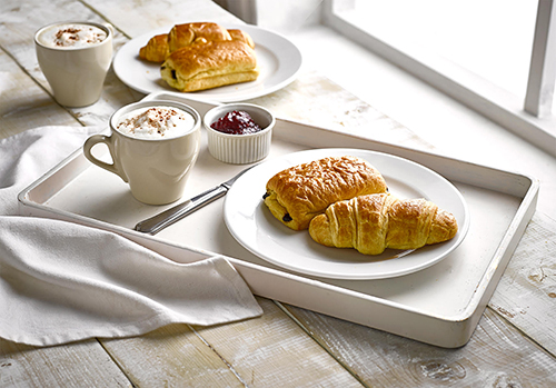 St Pierre is one of the fastest-growing European bakery brands in the U.S., offering a variety of items such as brioche, croissants, Belgian sugar waffles, and lace-thin filled crepes