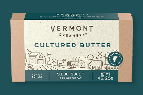 """Vermont Creamery was awarded with the Gold sofi™ """"Other Dairy Category"""" Award for its Sea Salt Cultured Butter"""