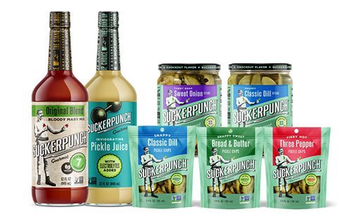 SuckerPunch Gourmet, popular for its flavor-packed pickle products, recently announced some big changes to its logo and packaging across its entire brand portfolio