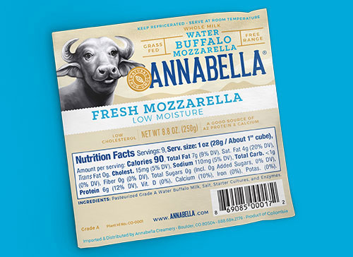 Annabella's Low Moisture Buffalo Mozzarella won for Best New Meat, Dairy or Animal-Based Product