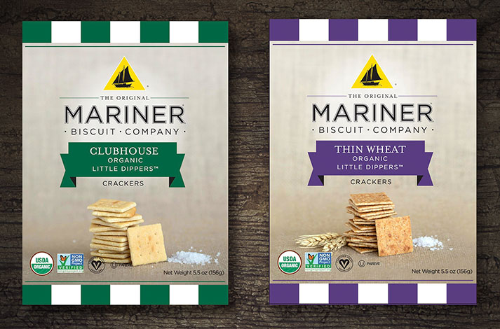 Mariner Organic Little Dippers™, an organic, non-GMO, vegan, kosher-approved snacking option