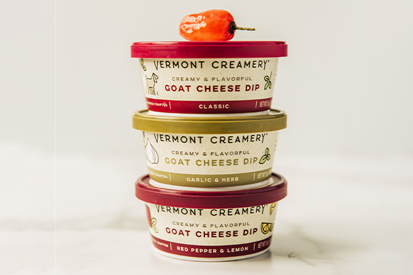 Vermont Creamery is touting the reinvention of summer snacking with its new trio of fresh goat cheese dips