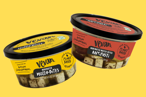 Expanding its plant-base cheese lineup, Vevan Foods recently launched its new Marinated Mozza-Bites