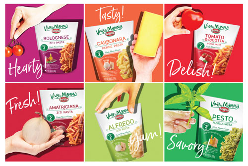 Viva la Mamma pasta kit sauces are made from scratch and have truly al dente pasta imported from Italy
