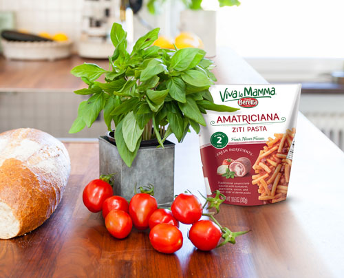 Fratelli Beretta's new Viva la Mamma line offers six fresh and never frozen pasta dishes that serve up in just two minutes