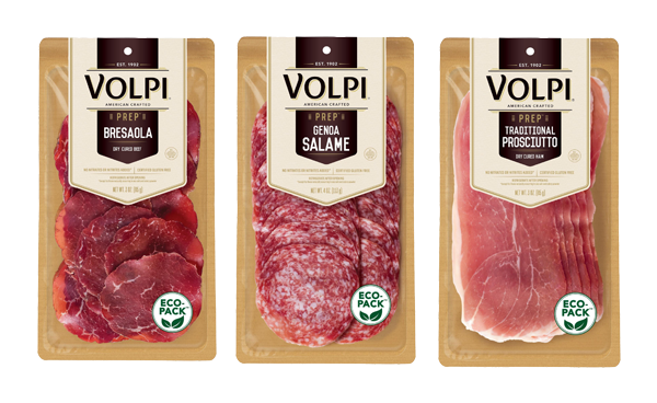 In order to bring itself even more buy-side value, Volpi Foods has announced new sustainable packaging for all of its retail, pre-sliced specialty meats