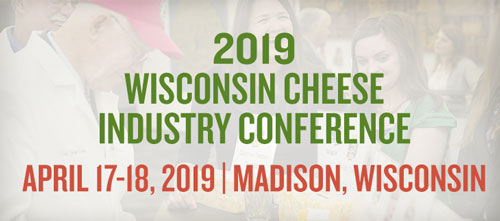 The Wisconsin Cheese Industry Conference is set for April 17-18, 2019 at the Alliant Energy Center in Madison, Wisconsin
