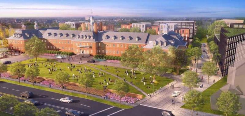 Wegmans is setting up shop at former Fannie Mae headquarters, where current plans are underway to turn the site into a mixed-use development