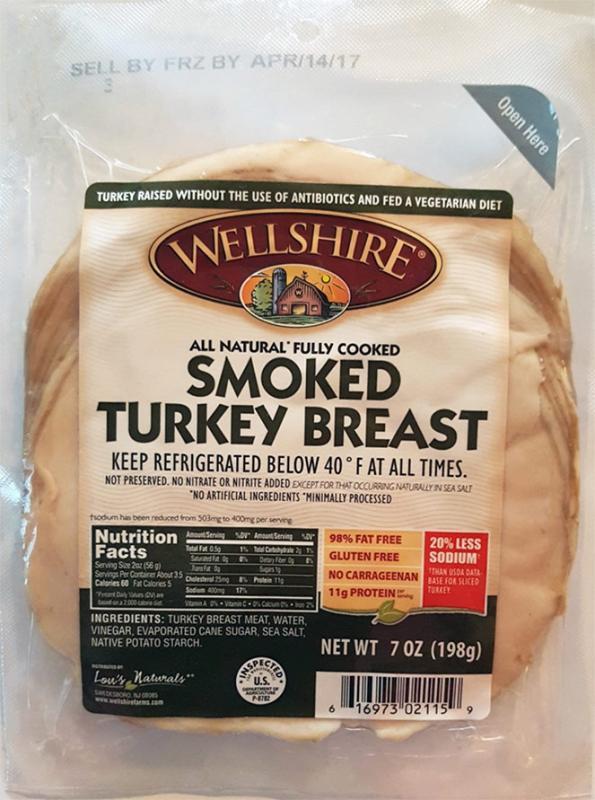 Wellshire Farms Sliced Turkey