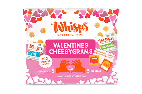 Whisps debuted new packaging for the holiday—a move that solidifies the brand's position as a snacking trendsetter