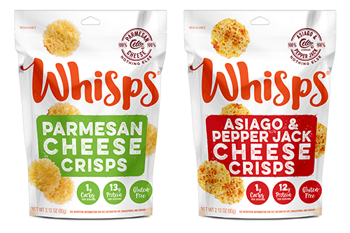 Produced in Wisconsin, the milk used to create Whisps is sourced from four family farms within 45 miles of the company's cheese plant