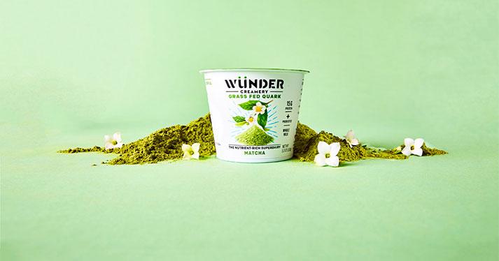 Wünder Creamery's Matcha yogurt variety