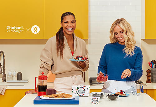 Recently, the dairy brand teamed up with WW Digital 360, an app-based membership plan, to help consumers meet their wellness needs with the new Chobani® with Zero Sugar