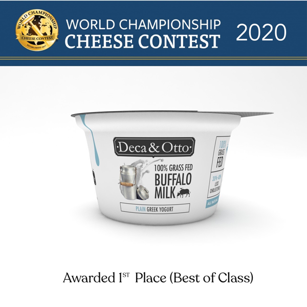 Deca & Otto's Greek Yogurt earned gold in the Yogurt - All Other Milks category