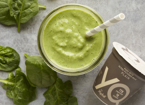 Mango green smoothie made with YQ