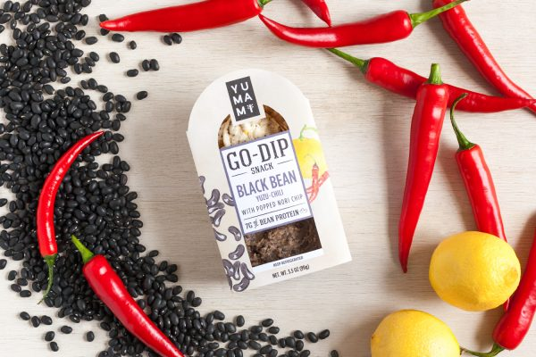 Yumami's Black Bean and Yuzu Chili Go-Dip offers consumers a plant-based, convenient snack.