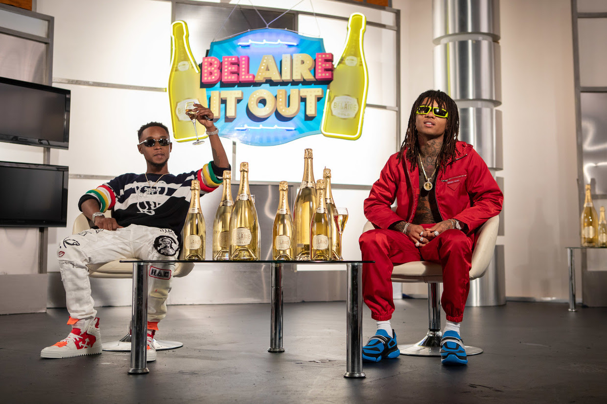 "Rae Sremmurd filmed a Belaire-produced video series called ""Belaire It Out,"""