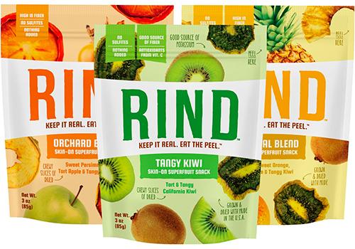 RIND Snacks, Skin-on Superfruit Snacks, using the whole fruit