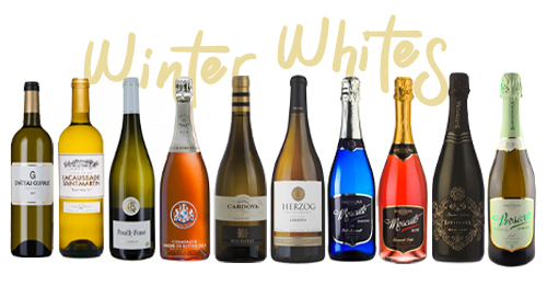 New winter white wines (from left to right): G de Château Guiraud 2017, Château Lacaussade Saint-Martin 2017, Domaine Jean-Pierre Bailly Pouilly Fumé 2017, Champagne des Barons de Rothschild Rosé Brut, Albariños: Ramon Cardova and Herzog Special Reserve, The Bartenura Series: Sparkling Moscato, Sparkling Moscato Rosé, Demi-Sec and Prosecco