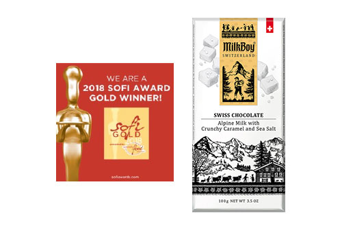 "MilkBoy Swiss Chocolates won an unprecedented three sofi Awards and a ""Great Taste"" Award in 2018 for Best Chocolates in its category"