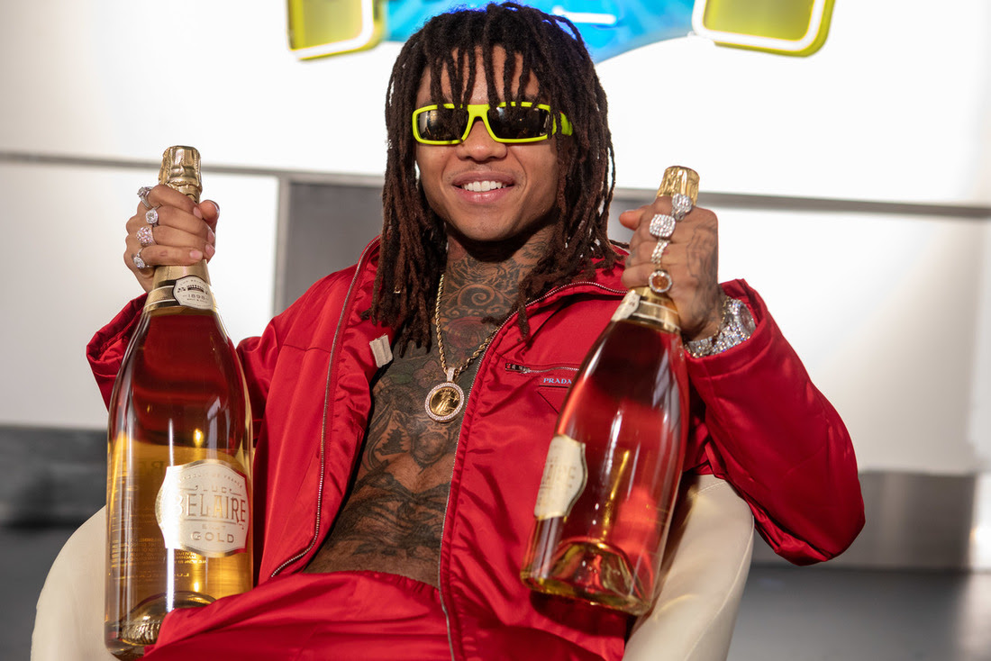 Rae Sremmurd, comprised of brothers Swae Lee and Slim Jxmmi, are now partnered on their favorite bubbly, Belaire Gold