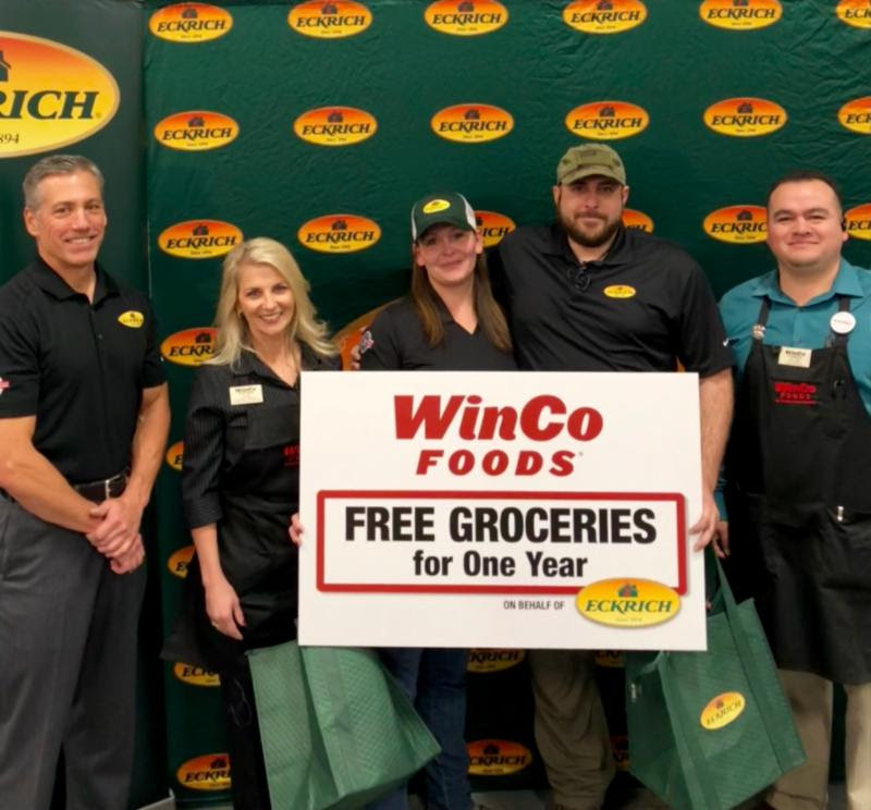 Eckrich and WinCo Foods Surprise the Mannino Family with Free Groceries for One Year