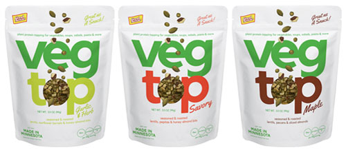 VEGTOP® is a new line of plant-based superfood snacks and vegetable toppings