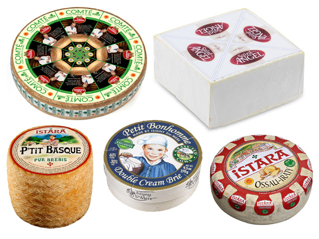 Selection of Featured Cheeses from France
